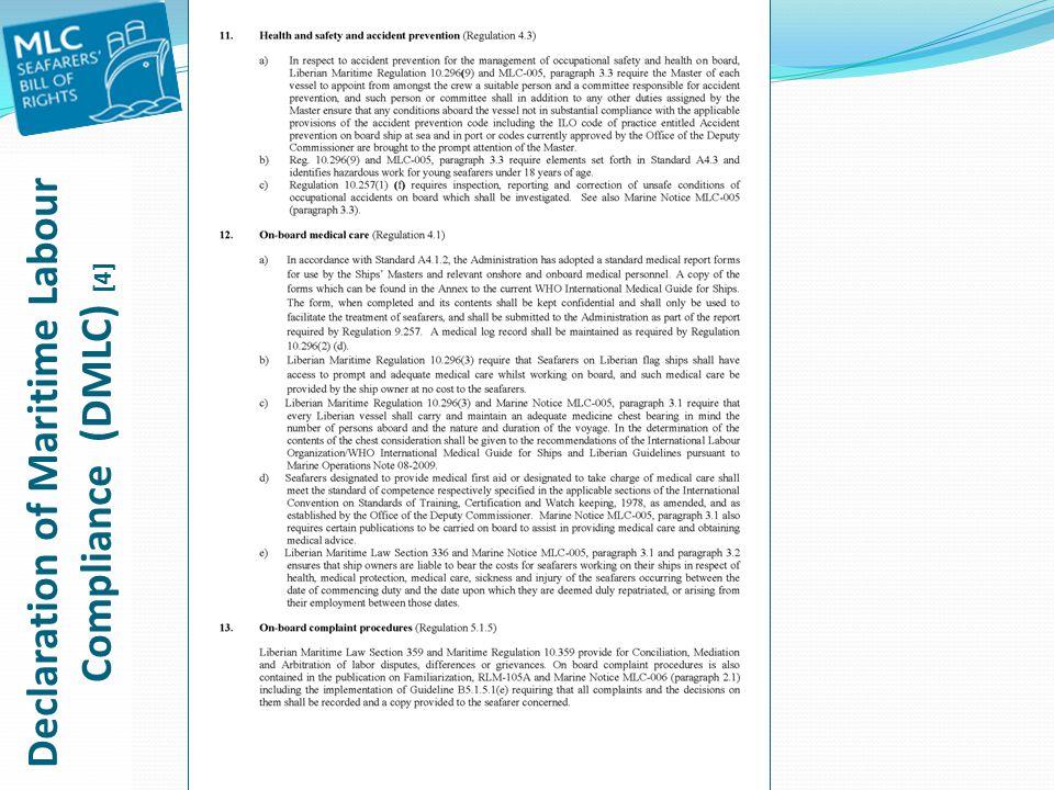 Declaration of Maritime Labour Compliance (DMLC) [4]